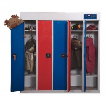 Детский сушильный шкаф для 5 комплектов одежды РШС-5Д-135